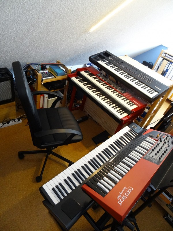 Home Studio with Nord C2 and Nord Lead 2X